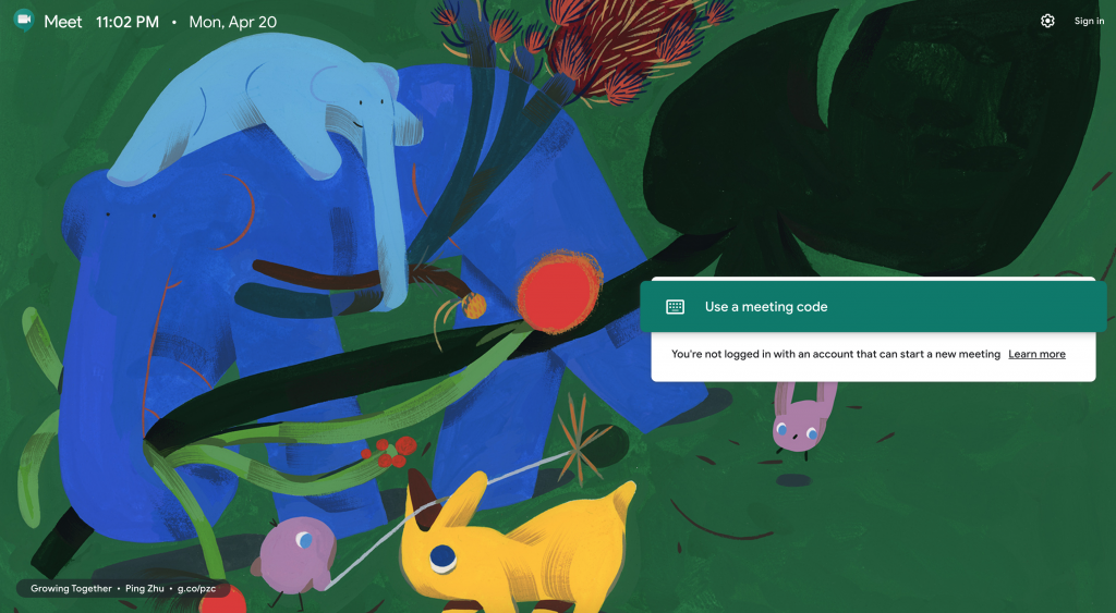 Google Meet Video Conferencing Platform