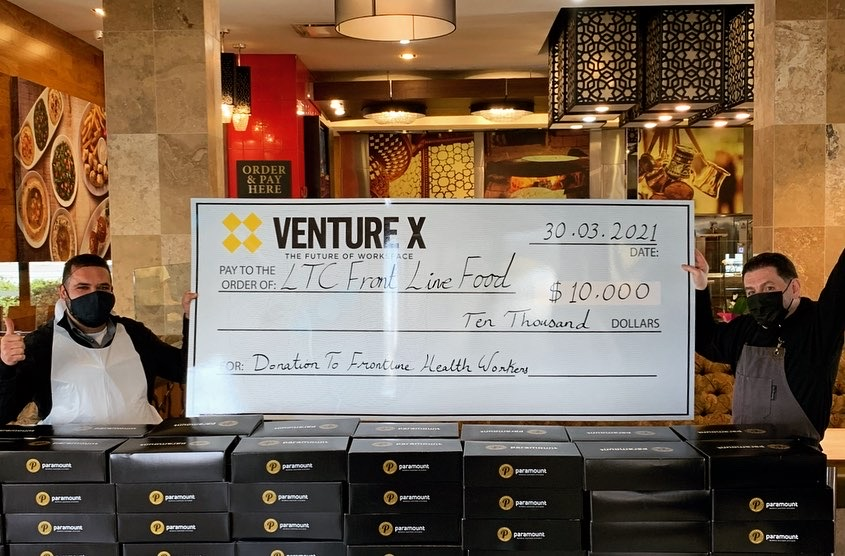 Venture X Canada Donates to LTC Frontline Workers
